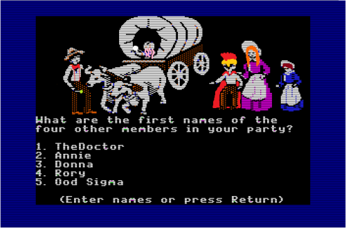 I found our ancient Oregon Trail disc, and this is what I'm doing with my day.