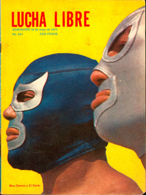 elalburero:  Blue Demon y El Santo  gentlemen, put on your masks and let the dance begin…