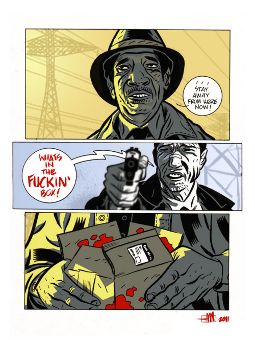 "SE7EN is on of my favorite movies. I think it's perfect. SPOILER ALERT!!! At Brand New Nostalgia this week we all did HORROR themed pieces. Not sure if this flick is ""horror,"" if not it's damn close. -Andrew!"