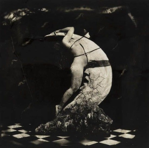 muscavomitoria:  'Woman Masturbating on the moon' by Jöel Peter Witkin