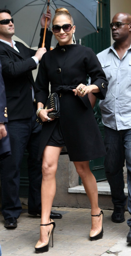 Jennifer Lopez looking fierce in a black Kate Spade jacket while out in Argentina over the weekend. Simply Amazing!