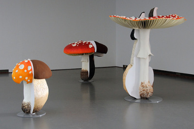 How to not be amused by Carsten Höller's Giant Triple Mushrooms.  @ The New Museum  Milk&HoneyArt