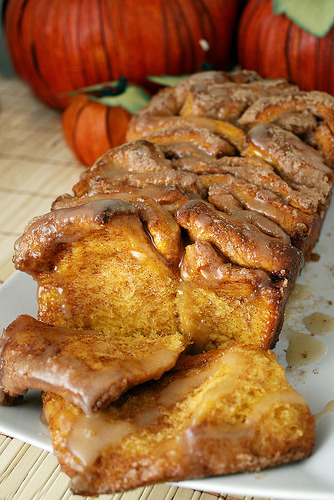 boyfriendreplacements:  Pull-Apart Cinnamon Sugar Pumpkin Bread Recipe