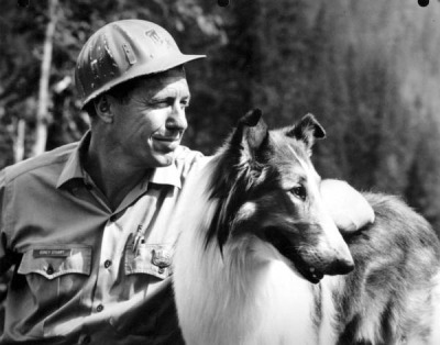 Lassie with actor Robert Bray by State Library and Archives of Florida on Flickr.
