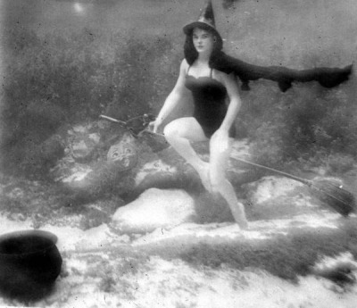 Underwater witch at Halloween: Rainbow Springs, Florida by State Library and Archives of Florida on Flickr.
