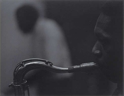 tornandfrayed:  John Coltrane and Elvin Jones, New York, 1960. Photo by Roy DeCarava.
