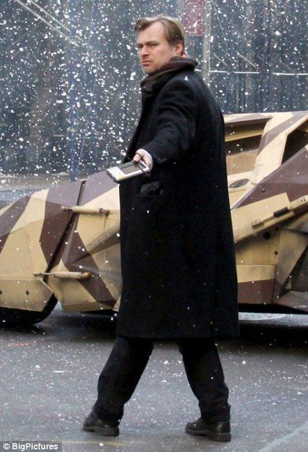 omgarytdkr:  Christopher Nolan on Wall Street. Set from New York City (USA)THE DARK KNIGHT RISES