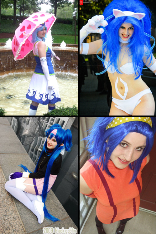 30 Days of Cosplay: Day 13 Your cosplay specialty I always seem to navigate towards blue haired characters. What can I say, blue's my favorite color. And while I do my best to match fabric choices for costumes to the characters, if there's an opportunity to use suede, I will. I also do a lot of custom dying, especially when I want to make something out of a knit material where the color selection is limited. I have a ton of white cotton knit fabric lying around for whenever I need it. After all, having a little stretch to your fabric can make life so much easier.