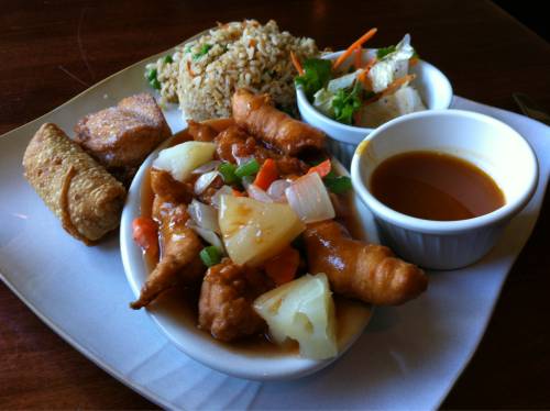 Sweet and sour chicken from Royal Panda in Germantown, TN. Related: best hot and sour soup in the Memphis area.