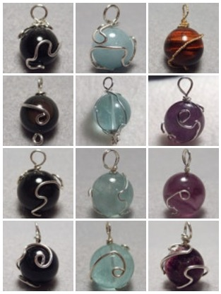 Just a reminder, all precious metal-wrapped 12mm gemstone materia pendants are 20% until November 14!  Included are red tiger's eye, hawk's eye (blue tiger's eye), rainbow obsidian, green fluorite and purple fluorite.  They all come with a wide range of chains/necklaces to choose from included, as well.