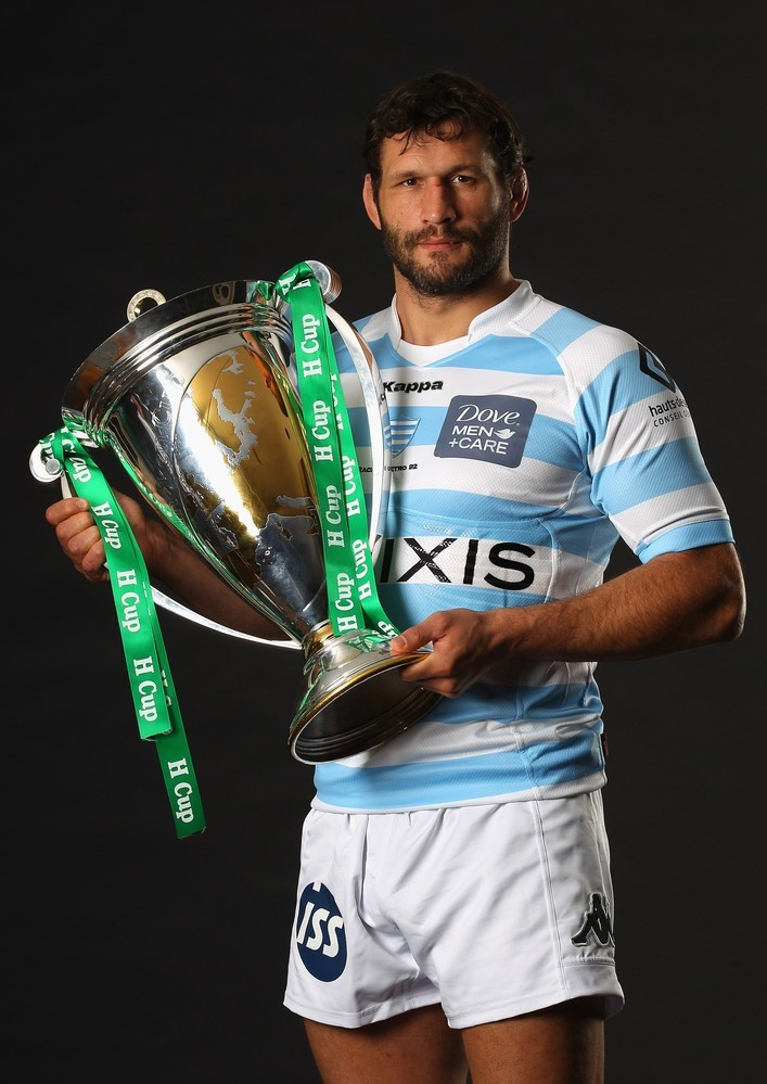 giantsorcowboys:  Gods of Rugby: Lionel Nallet! The Captain of Racing Metro will make sure his boys are ready to take the Heineken Cup!