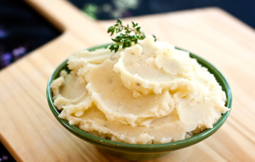 VegNews has an article up with a million kinds of mashed potato recipes and I had to share because mashed potatoes are my favorite potatoes. If you know me AT ALL (I'm glaring at you while I say this), you know that I love love love love love mashed potatoes with a kind of reverence that I usually reserve only for my dog, and I might even love her less because I don't eat her, thus making her part of me, the purest form of love. Ask any slow foodie. Does that make sense? Maybe not, but it's because they love and respect animals so much that they eat them! Anyway, that's how I feel about mashed potatoes.  Speaking of potatoes, ask me sometime to tell you my favorite blonde joke. Seriously, it's really good.