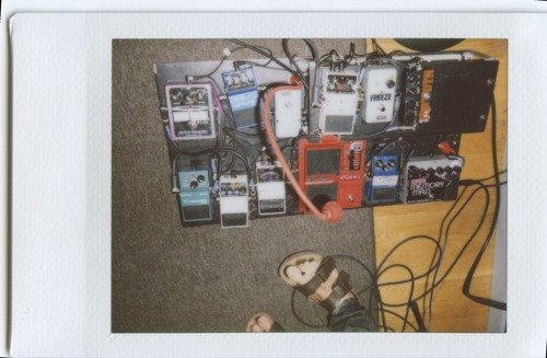Josh Hook's (Tokyo Police Club) pedalboard Submitted by: Luke