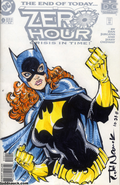 I drew up this Barbara Gordon Batgirl on a Zero Hour #0 cover. Closest thing DC has to sketch covers. It's available for purchase at http://bit.ly/vnPyhT