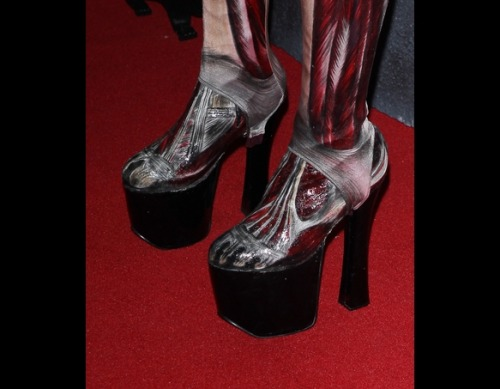 Heidi Klum's Halloween shoes (via Celebrity Halloween Costumes | TooFab Photo Gallery)