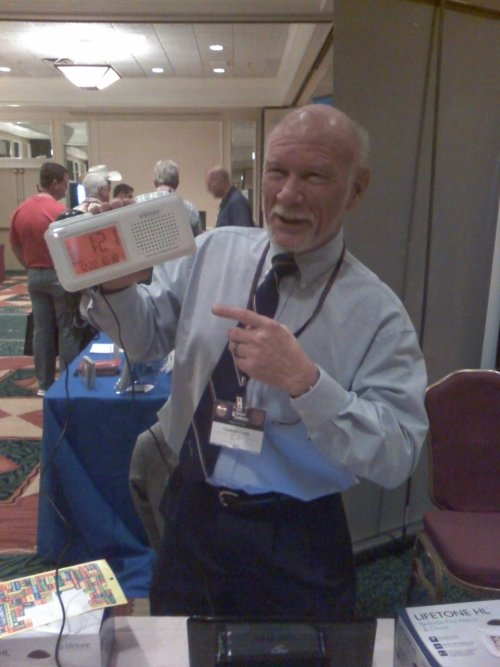 Dr. Landgrave Smith from Lifetone Safety demonstrated the HL150 smoke alarm at the 13th Annual Texas Fire Marshals' Conference in Ausitn.