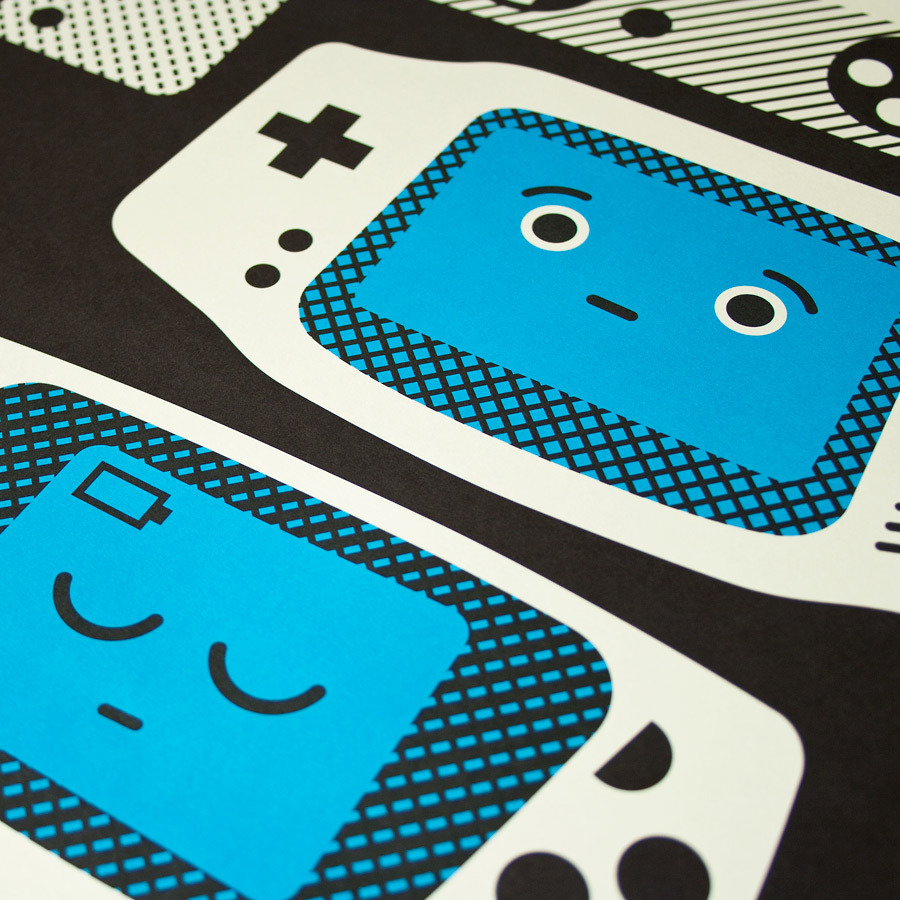 """Love for Handhelds"", designed by Axel Pfaender.  So awesome, and only 9.50€+shipping for an A1 (59,4cm x 84cm ) poster! I'm buying it right now."