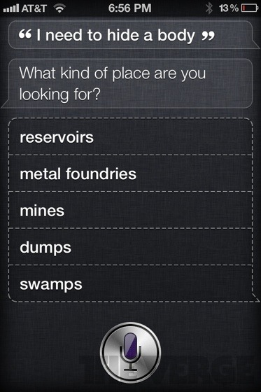 truth-duty-valour:  YES! Siri, you naughty robot ;)  See, I told you robots are inherently evil.