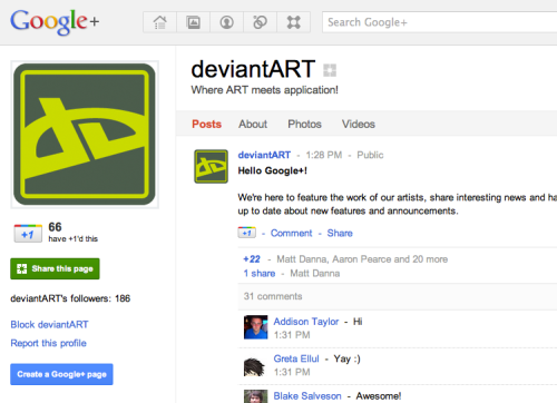 DeviantART is on Google+! Come say hello!
