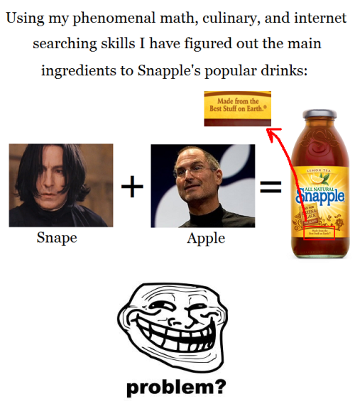 Snape + Apple = Snapple