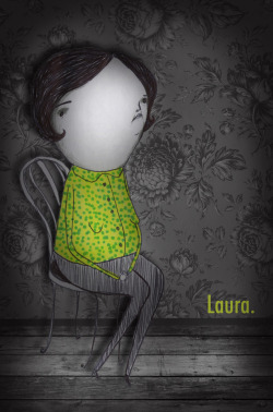 Laura.   2011.  Ink, graphite, digital collage. © Mai Ly Degnan