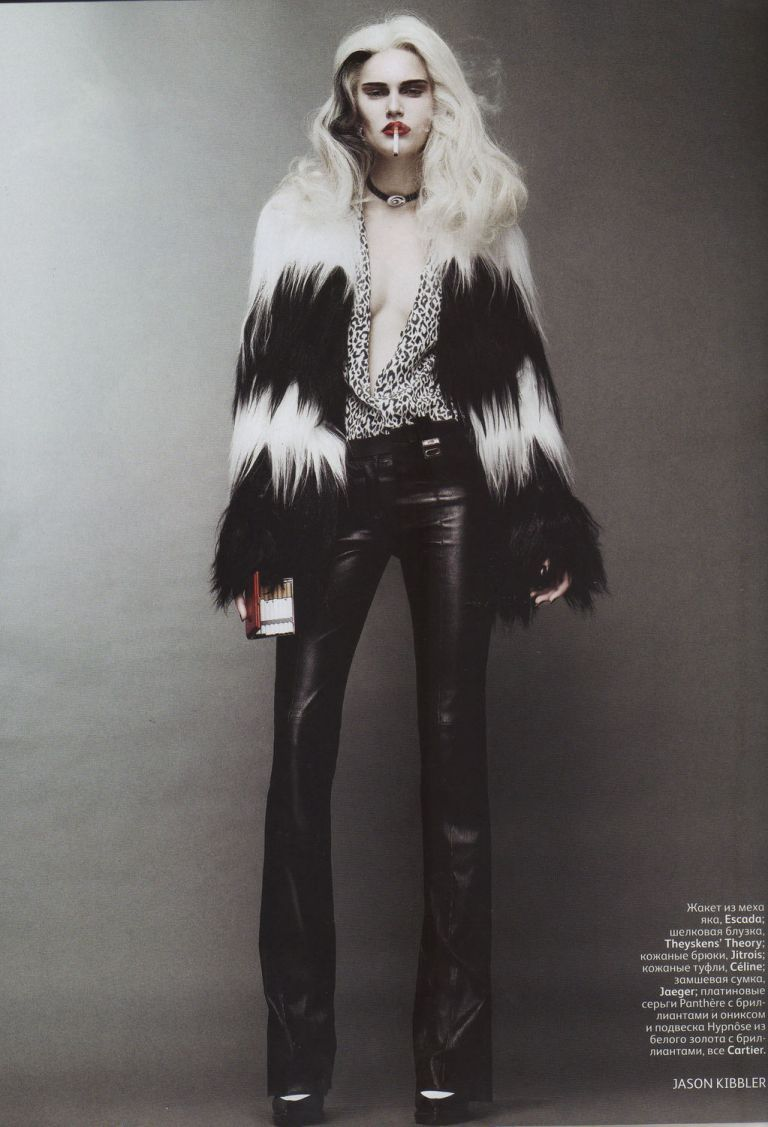 Alla Kostromichova as Cruella de Vil for Vogue Russia