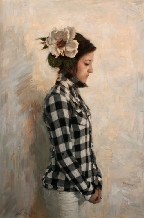 "Julio Reyes, ""O Tender Heart,"" Oil on Linen, 41"" x 27"""