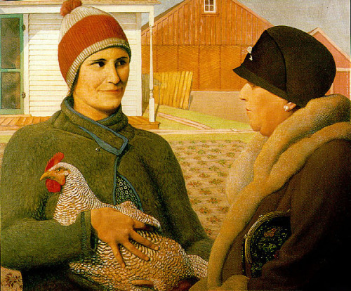 The Appraisal - Grant Wood, American painter -1931