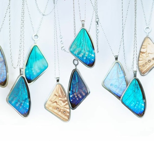 versejewelry:  butterfly wing jewelry by Papillon Belle