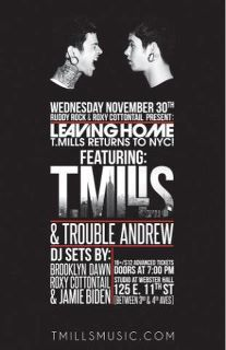 Wednesday Nov. 30th @ilovetmills goes back to NYC ;)