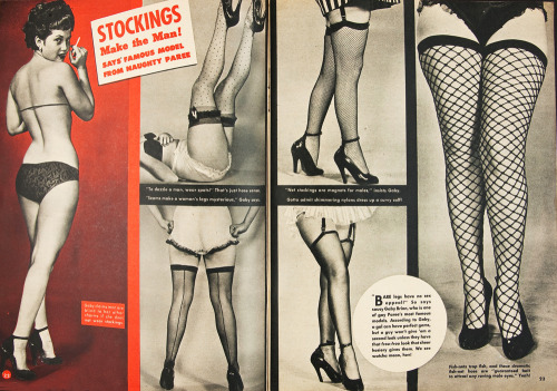 Stockings in Titter Magazine 1951
