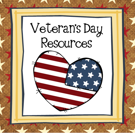 Veteran's Day Resources @LiveBinder #elemchat #spedchat #veteransday #sschat Resources include printables, lesson ideas, activities, videos and more.