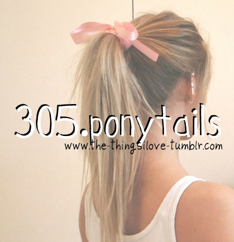 Long ponytails <3