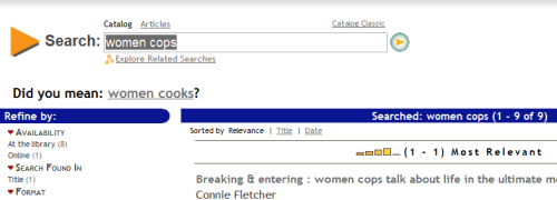 pseudonymousone:  So the university library database totally just trolled me… With sexism.