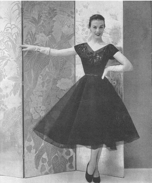 Tulle party dress, 1951