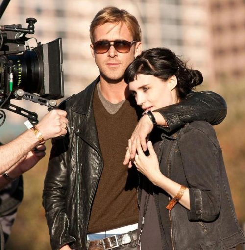 Ryan Gosling & Rooney Mara on the set of Terrence Malick's Lawless (2012).