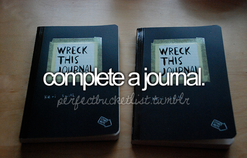 I've completed two journals over the past two years but I still love the feeling of finishing a journal and starting a brand new one.