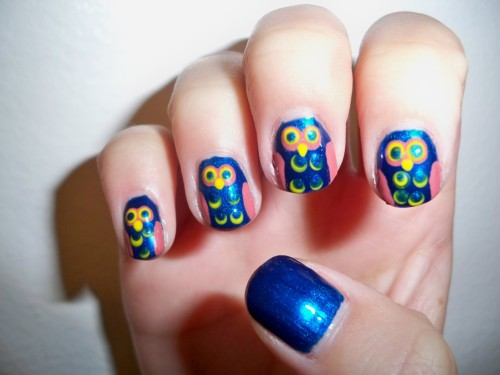 blue owl nails