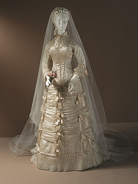 Wedding dress, ca 1878 US, LACMA