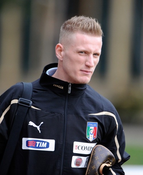 Ignazio Abate gears up for practice with the Italian National Squad. About bloody time the lightning fast right back got his first cap.