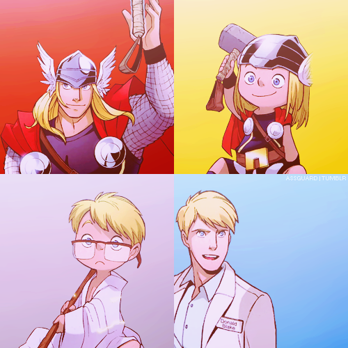 assguard:  Thor & Donald Blake → we are one and the same.