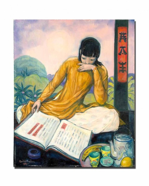 indigodreams:  Andre MaireArtist: Asian Woman Reading, Year: 1970  - via