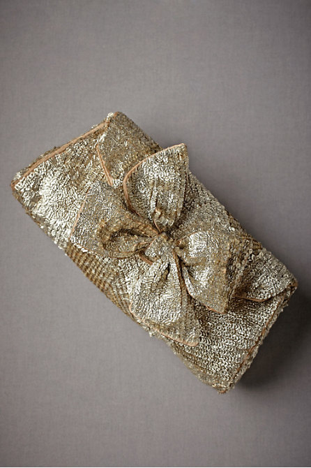 everlytrue:  Gold Leaf Clutch by BHLDN