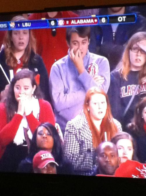 Such a Bama fan… GET IT BUDDY!!