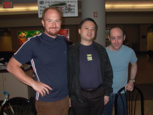 comedyisweird:  Louie and Todd Barry with William Hung  I love this picture for some reason.