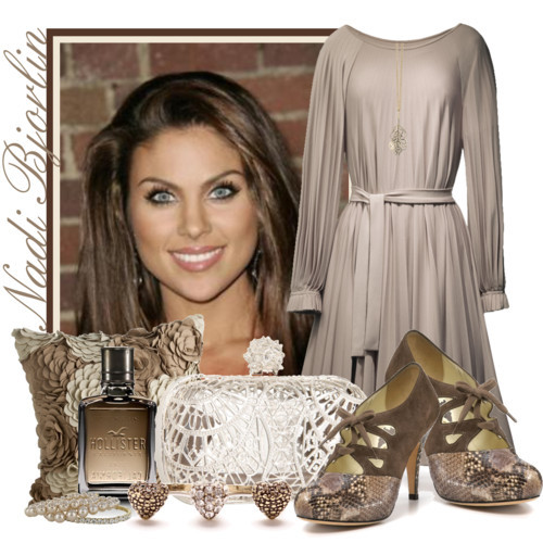 Nadia Bjorlin by queenrachietemplateaddict featuring vintage style jewelry