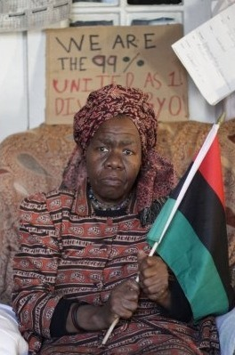 fuckyeahmarxismleninism:  Queen Mother Dr. Delois Blakely at her apartment in Harlem, where Occupy Wall Street protesters occupied the building's basement until the landlord agreed to replace the boiler. The building had been without heat and hot water on and off for years.