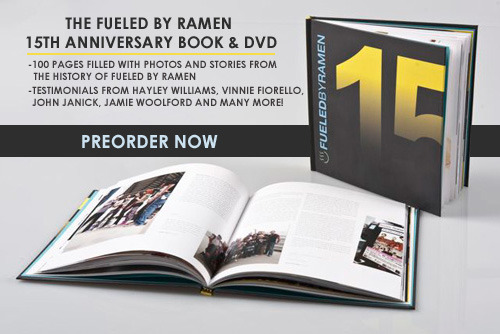 fbrstreetteam:  The preorder for the Fueled By Ramen 15th Anniversary Book & DVD starts today! Click HERE to preorder one of 1,500 copies of this limited-edition piece of Fueled By Ramen history. The 100-page book is filled with photos and stories from the first 15 years of Fueled By Ramen and the DVD includes live performances from the first night of our 15th Anniversary concerts in New York City. Help us promote the book and two lucky/hard working street teamers will win a free copy! - Reblog this post - Post Facebook updates about the book and include the preorder link in your posts - Send multiple Tweets about the book and include the preorder link in your tweets Take screenshots of any online promoting you do and save them. Feel free to post news and links on other sites that you go to or look up. Stay tuned for more details on when and how to start emailing us your online promo proof! Start now!