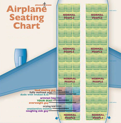 pleatedjeans:  Airplane Seating Chart  Yep.