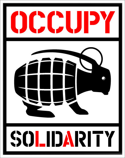 A design showing my support for Occupy LA. Posters and stickers are in the works.